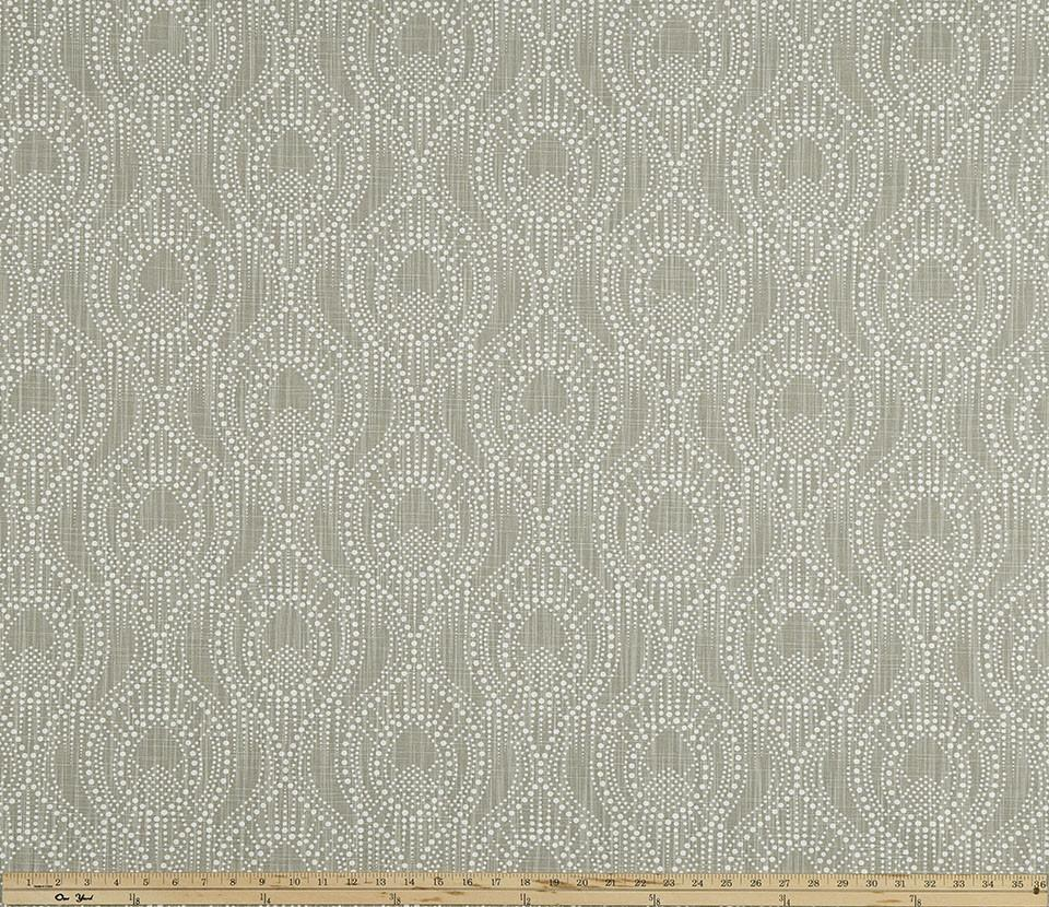 Ogee Pattern Design on Beige Printed Fabric