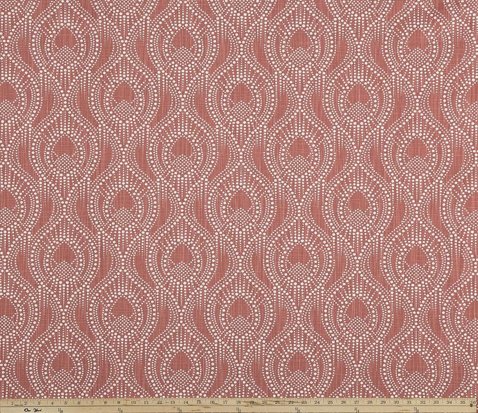 Ogee Pattern Design on Red Printed Fabric