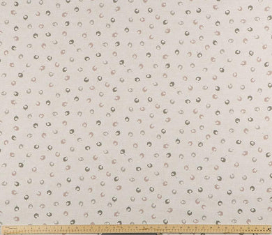picture of open circle dot pattern printed on premium property brothers fabric