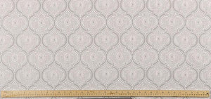 photo of elegant lattice or trellis pattern printed on luxury scott living property brothers fabric