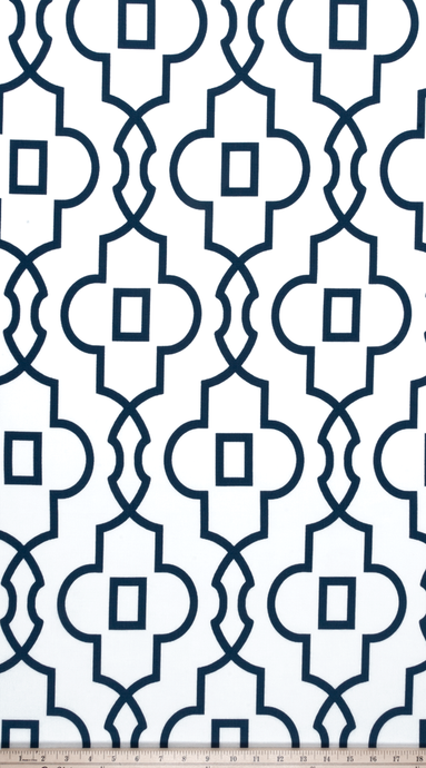 product image of Moroccan Lattice pattern printed on cotton fabric by the yard
