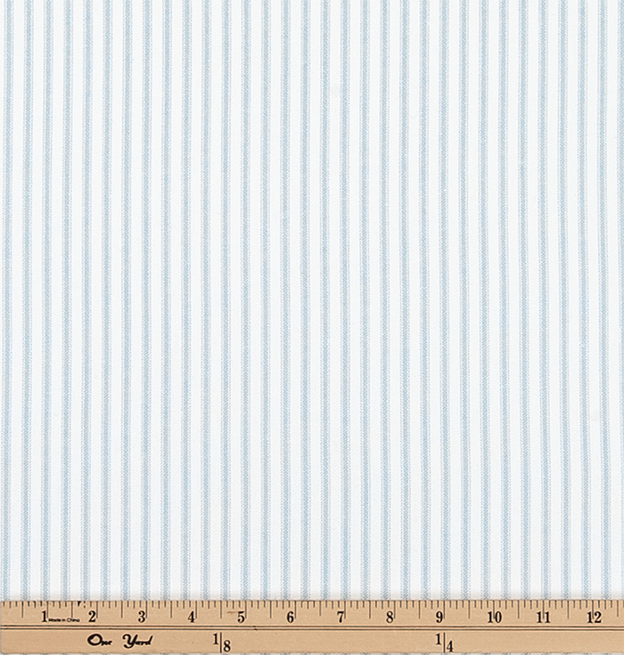 Classic Light Blue Ticking Stripe Fabric