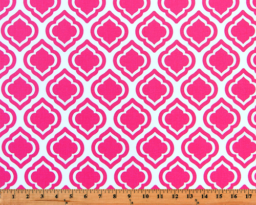 Curtis Candy Pink Fabric By Premier Prints