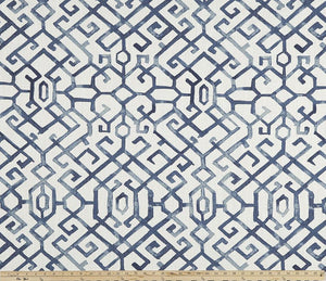 Jing Regal Blue Slub Canvas Fabric By Premier Prints