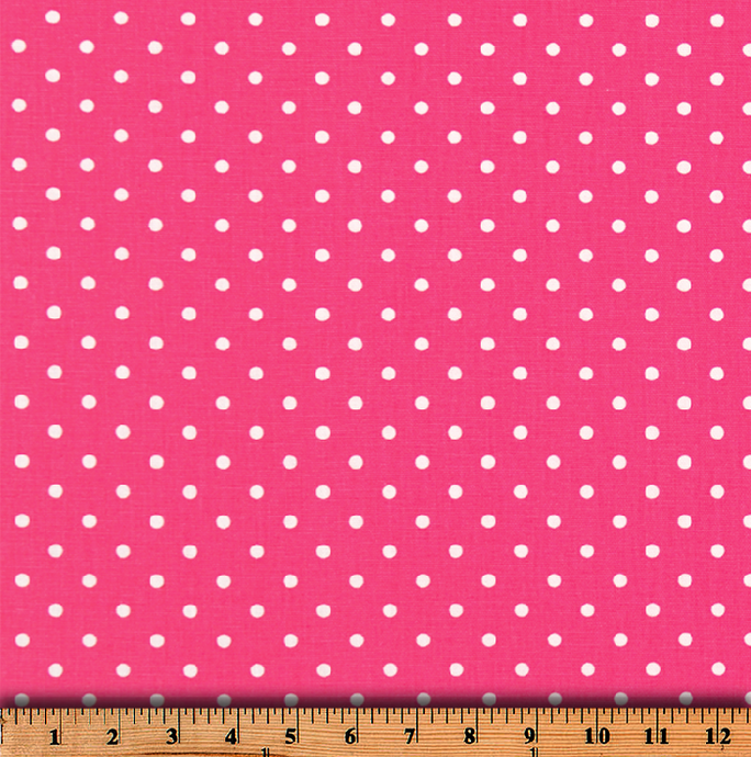 Mini Dot Candy Pink White