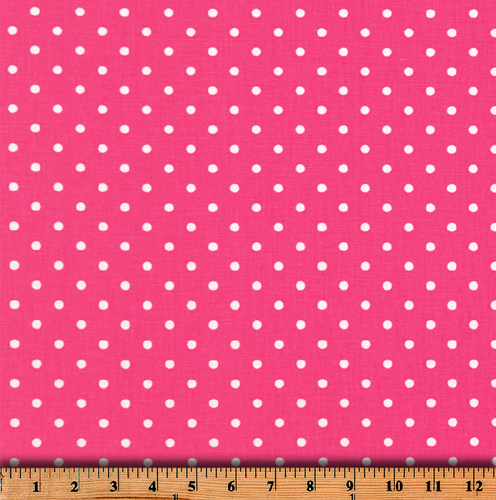 Mini Dot Candy Pink White Fabric By Premier Prints