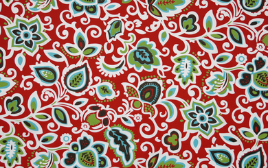 Picture of Outdoor Fabric - Faxon Rojo Fabric By Premier Prints