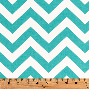 Outdoor Fabric - Zigzag Ocean