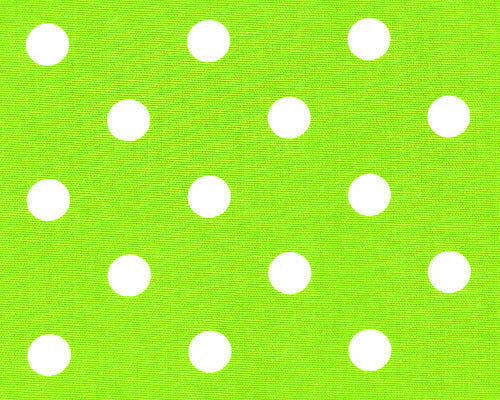 Polka Dot Chartreuse White Fabric By Premier Prints