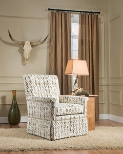 Picture of modern western styled chevron and tribal fabric