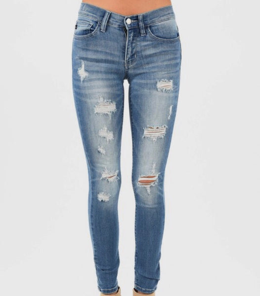 So Cute Distressed Skinnies