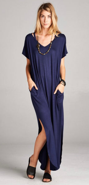 Solid Maxi - Navy