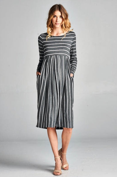 Cozy Stripes Dress