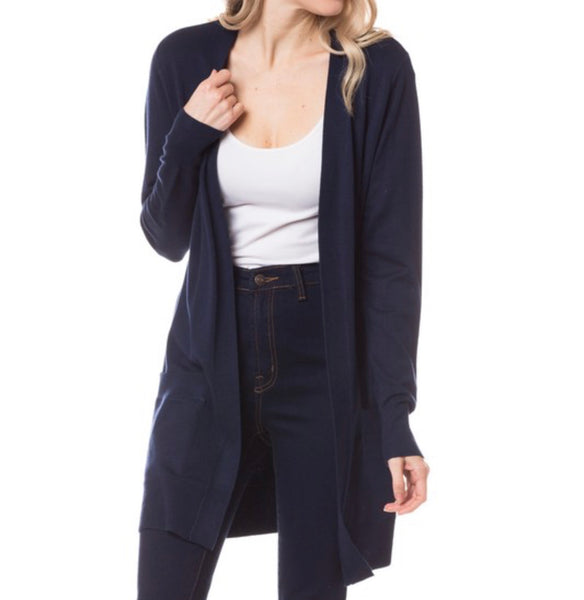 The Elegance Cardigan - Navy