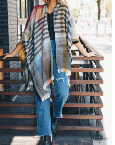 Perfect Plaid Poncho