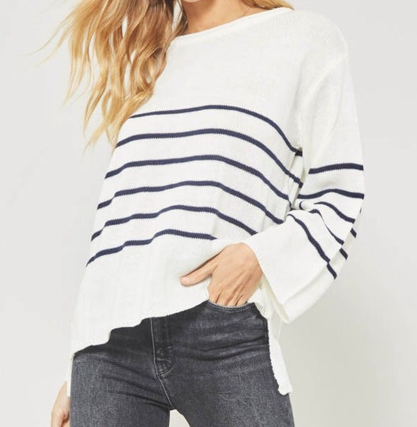 Cream Striped Sweater