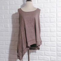 Gray Asymmetrical Tank