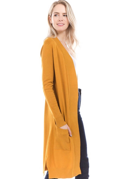 The Elegance Cardigan - Mustard