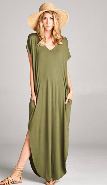 Solid Maxi - Olive