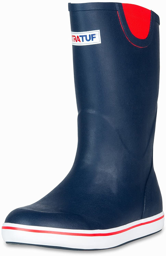 "Xtratuf 12"" Full Rubber Deck Boot, Size 13, Navy/Red"