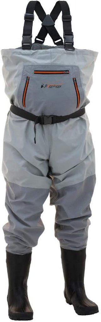 Frogg Toggs Men's Stout Hellbender Cleated Chest Wader, Slate/Gray