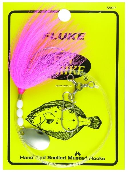 Fin Strike 559 Fluke Rig Wide Gap Bucktail Spinner w/Sinker Snap