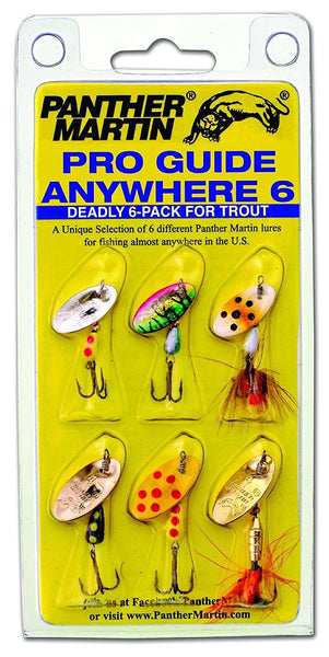 Panther Martin Best of the Best Kit. AW6 Anywhere Pro Guide Trout Spinner Lures