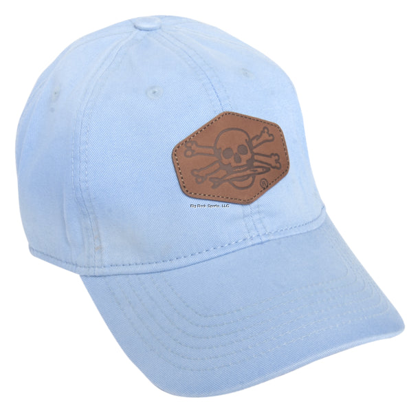 Calcutta Ocean Blue Twil Cap with Leather Patch and Adjustable Back