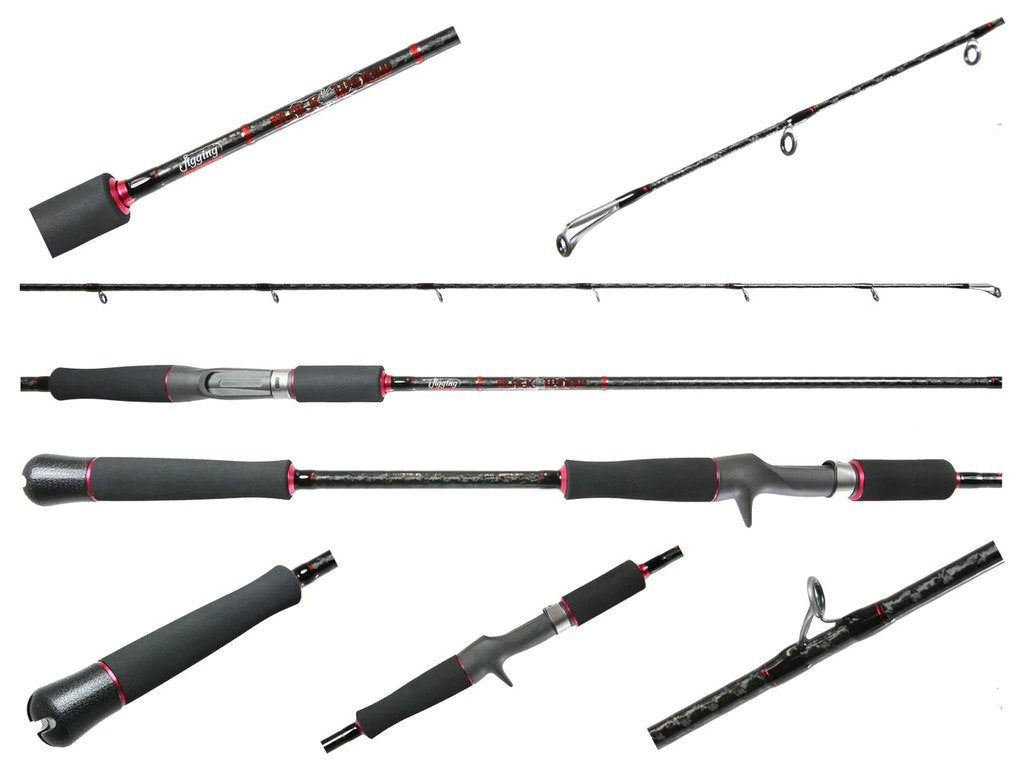 Jigging World JW-BW-150C 7' Black Widow 150 Jigging Rod 2-6OZ 20-30LB