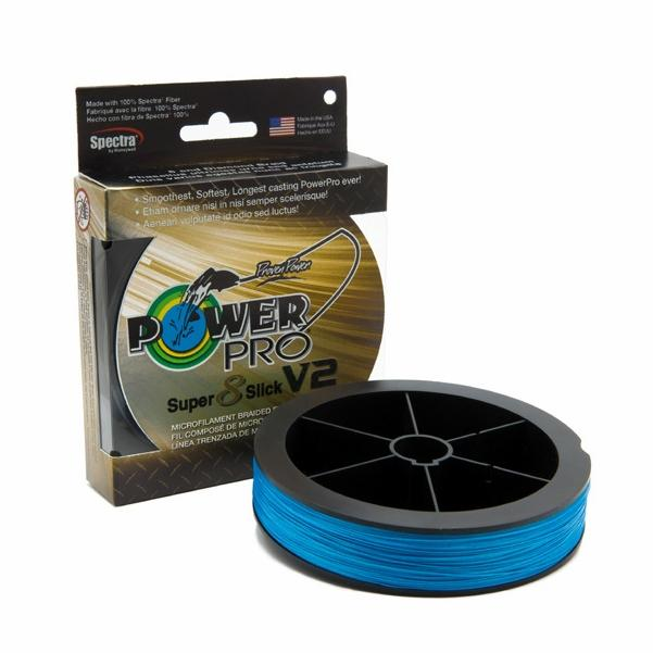 Power Pro Super Slick V2 8-Stand Braided Line 1500yd Spools