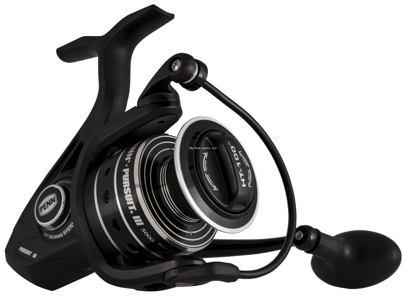 Penn PURIII2500 Pursuit III 2500 Spin Reel, HT100 drag, 10lbs.drag graphite body