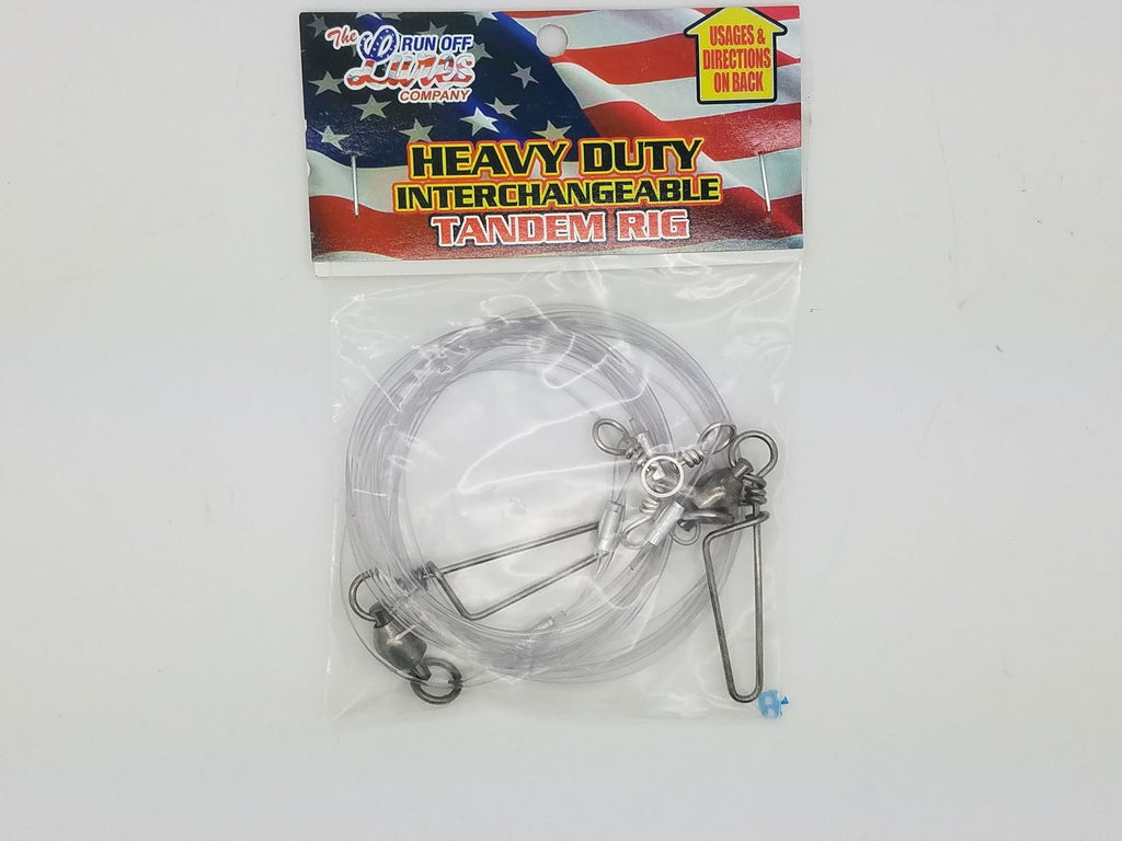 Run Off Lures Heavy Duty Interchangeable Tandem Rig 100lb