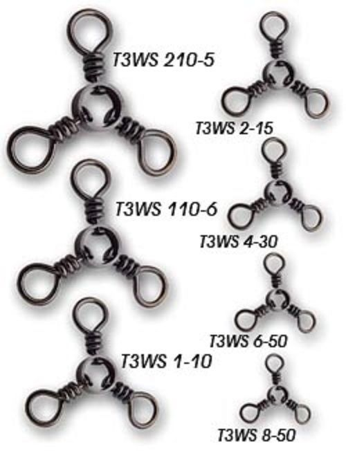 Tsunami Stainless Steel Three Way Swivel T3WS