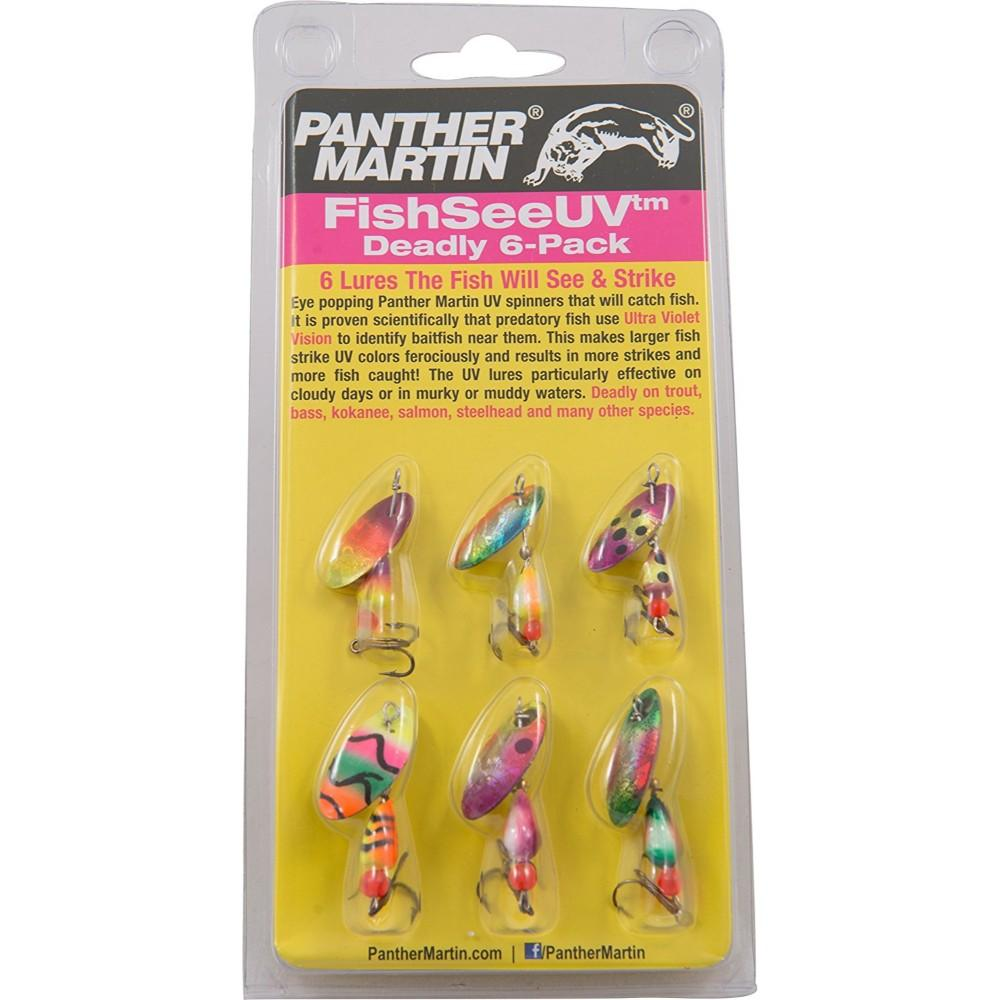 Panther Martin UV6 Ultra Violet Assortment Trout Spinner Lure Kit 6 Pack New