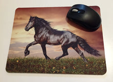 Printed mouse pad with a horse.