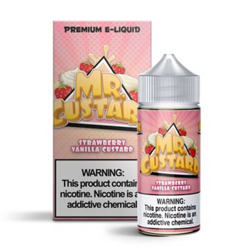 Strawberry Vanilla Custard by Mr. Custard E-Liquid 100ml