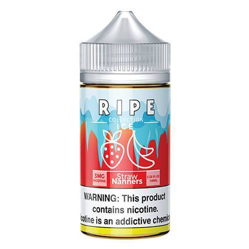 Straw Nanners by Vape 100 Ripe Collection On ICE 100ml