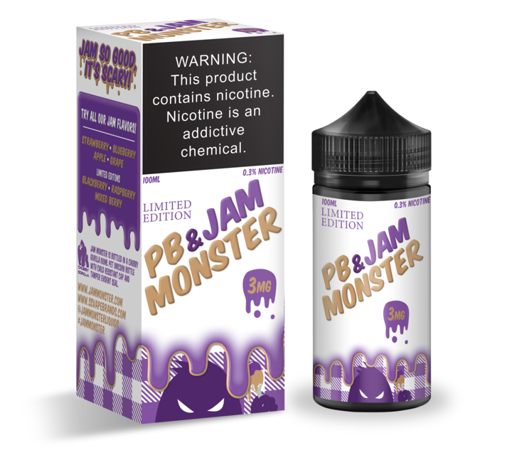 PB & Grape Jam by Jam Monster E-Liquid 100ml