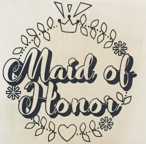 "Coloring Board ""Maid of Honor"" Wedding Themed 