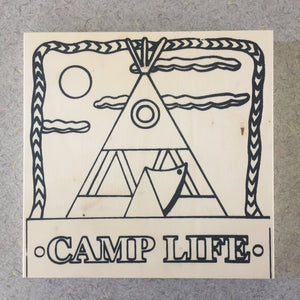 Unfinished Camp Life Wigwam NicheBoard flat paint or color yourself