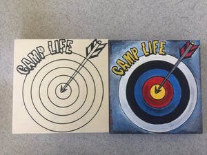 Before After Camp Life Archery finished unfinished side by side