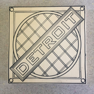 Unfinished Detroit Manhole NicheBoard add paint colored pencil