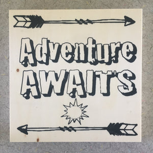 "6x6"" NicheBoard: Adventure Awaits"