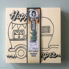 Unfinished Happy Camper NicheBoard wrapped label