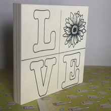 Free Standing LOVE Quad Sunflower NicheBoard on Patterned Base