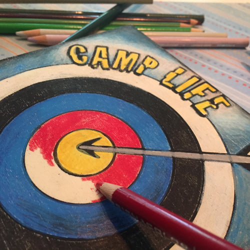 Close up on archery target Camp Life Archery NicheBoard