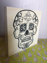 Standing Sugar Skull NicheBoard turned to show depth