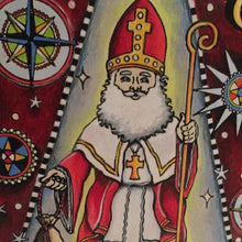 Close-up of St. Nicholas Coloring Board