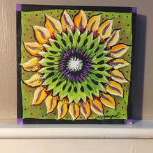"Thatartgirl 6x6"" DIY Unpainted Wood Panel: Sunflower (Finished Sample)"