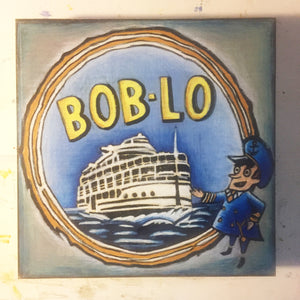 Bob-Lo Finished NicheBoard blue, yellow, grey